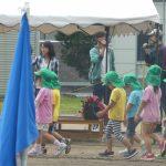 プレ台風に見舞われた幼稚園運動会