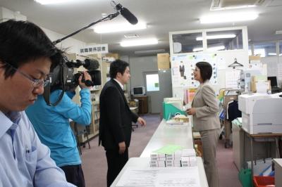 桔梗就職課長がインタビューされました