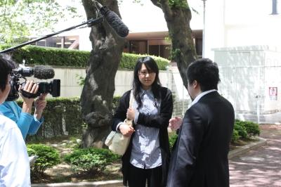 高橋さんが震災中の出来事を話しております